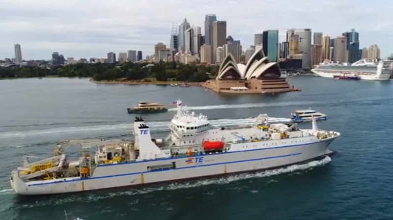 TE SubCom cable ship Responder arrived in Sydney for laying Hawaiki Cable