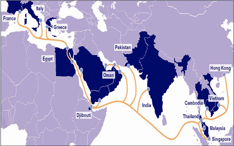 AAE-1 Cable Map Updates - Submarine Networks