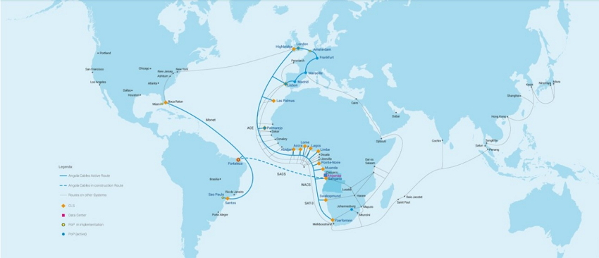 Angola Cables submarine cables