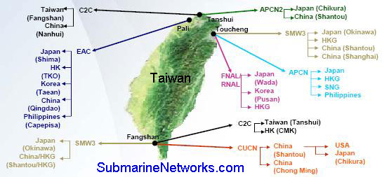 Submarine Cables Cut after Taiwan Earthquake in Dec 2006
