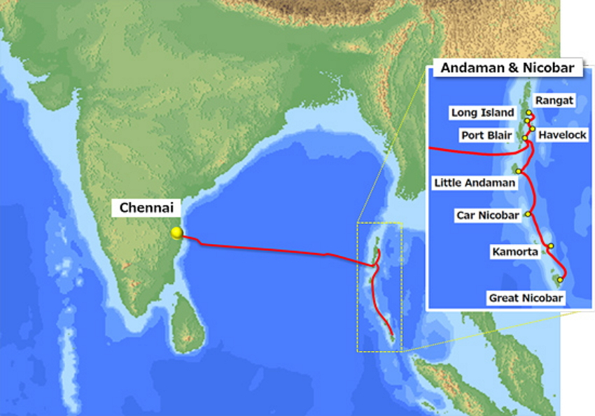 Chennai-A&N Islands Cable Route