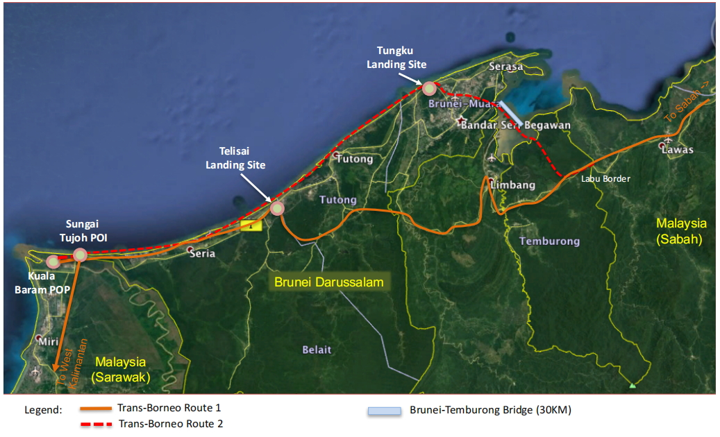 Cable Landing Stations in Brunei Darussalam