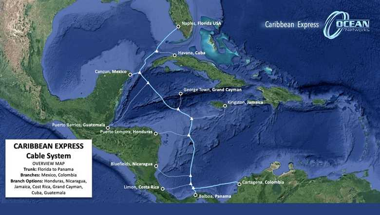 Caribbean Express (CX) Cable Map