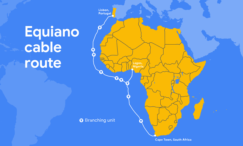 Equiano Cable Map
