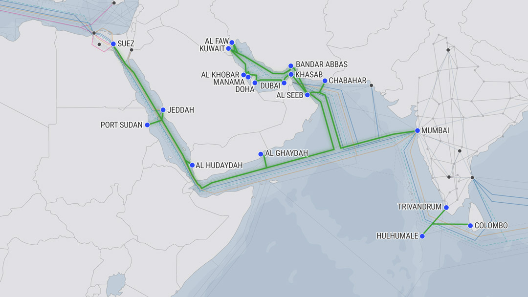 FALCON cable map