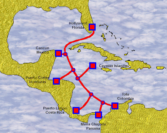 Maya-1 Cable Route