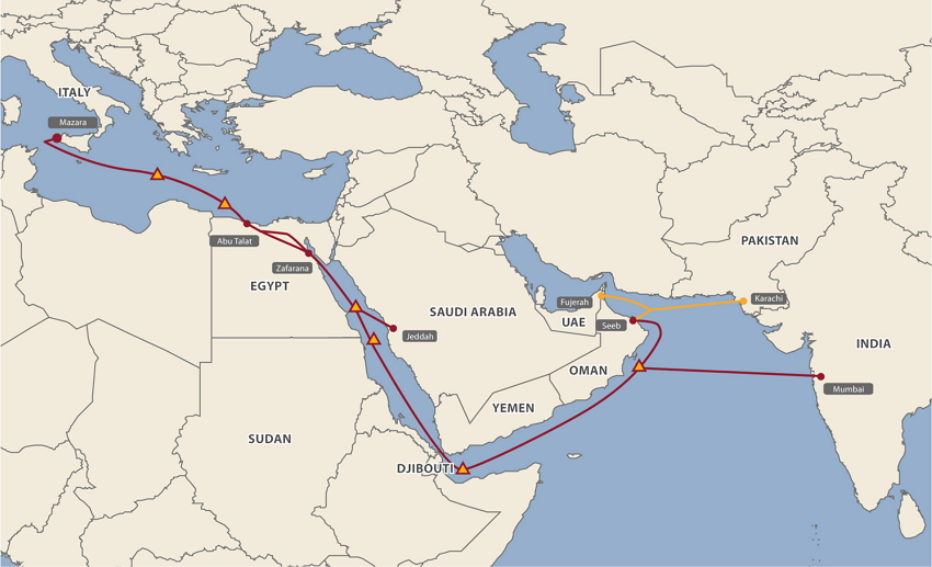 MENA Cable Map