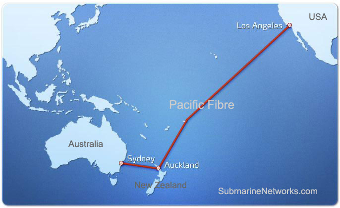 Pacific Fibre Cable Route Map