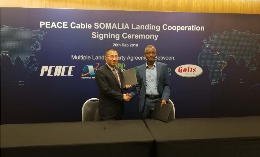 PEACE Cable SOMALIA Landing Party Agreement