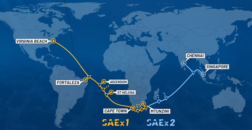 SAEx Cable Map