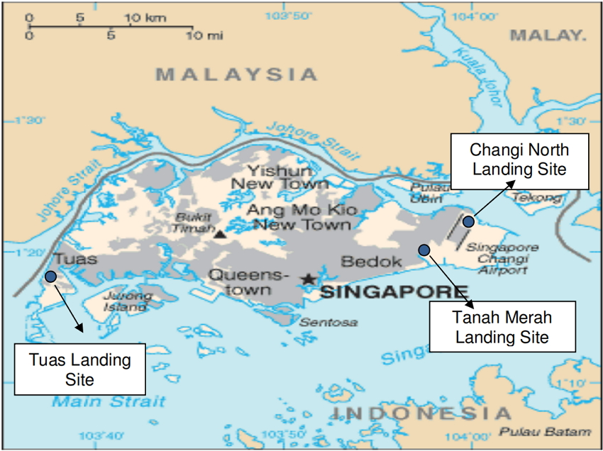 Submarine Cable Landing Sites in Singapore
