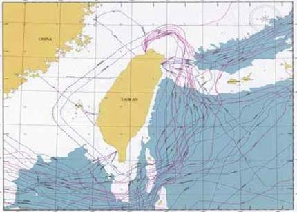 Submarine Cables Around Taiwan Coast