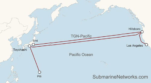TGN-Pacific Cable Map